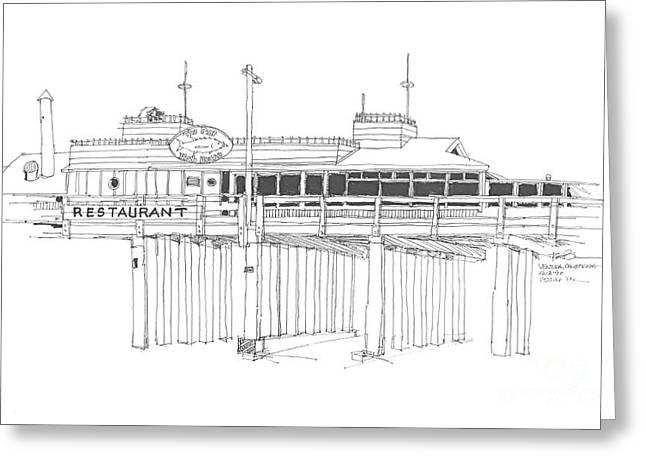 Ventura Pier California Greeting Card by Robert Birkenes