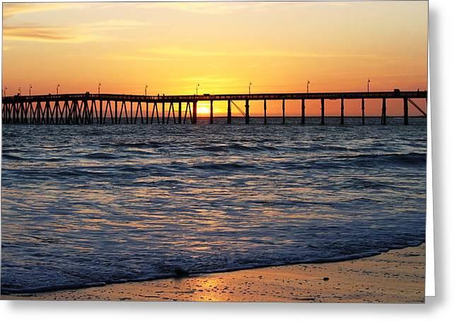 Ventura Pier II Greeting Card by Caroline Lomeli