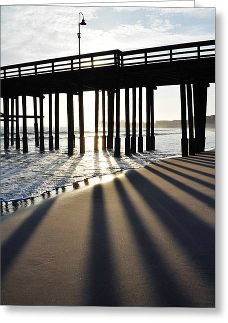 Greeting Card featuring the photograph Ventura Pier Shadows by Kyle Hanson
