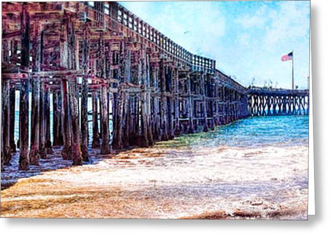 Ventura Pier Greeting Card by Steve Benefiel