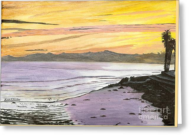 Ventura Point At Sunset Greeting Card by Ian Donley