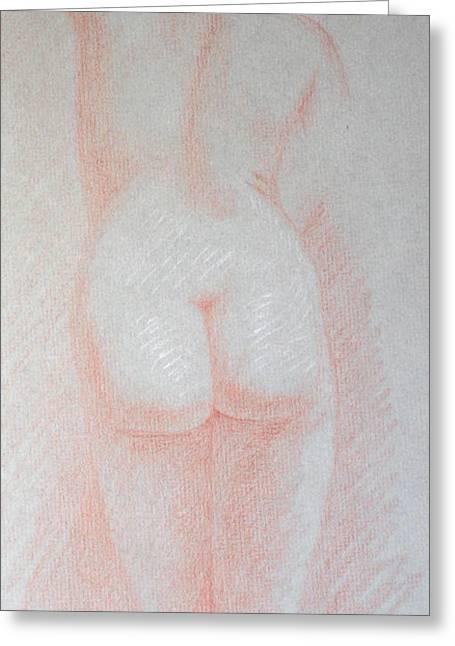 Female Torso, Back View Greeting Card by Deborah Dendler