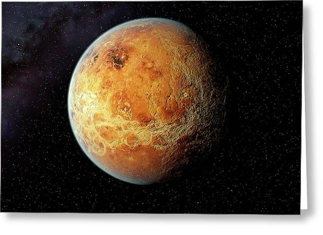 Venus And Its Rocky Surface Greeting Card
