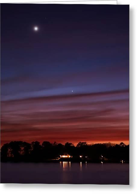 Venus And Mercury Greeting Card