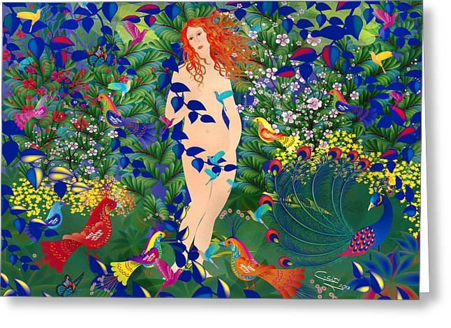 Venus At Exotic Garden Greeting Card