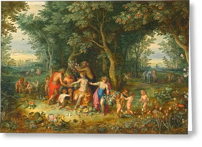 Venus Ceres And Bacchus Greeting Card