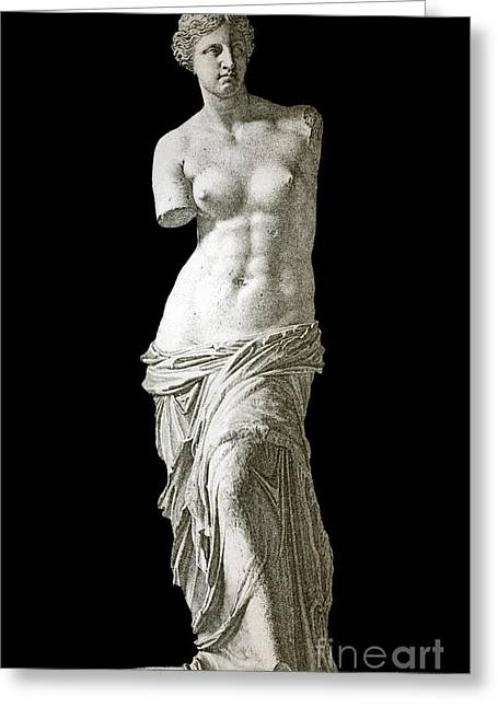 Venus De Milo Sculpture, 1880s Artwork Greeting Card by Bildagentur-online