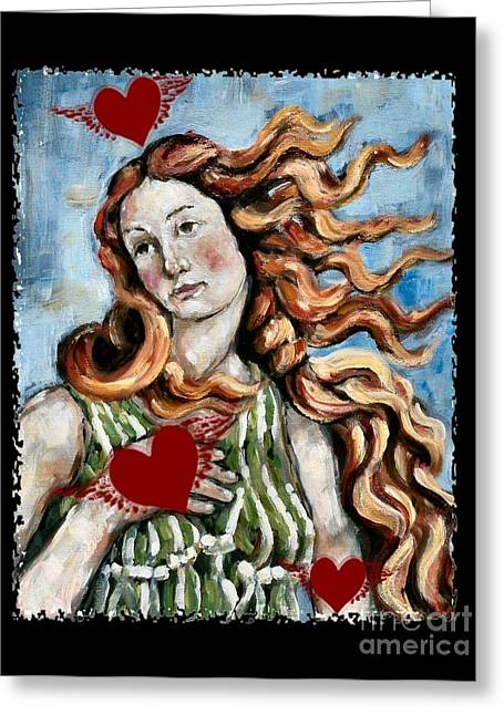 Venus On The Wing Greeting Card by Carrie Joy Byrnes