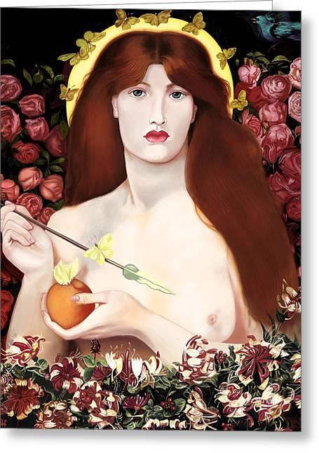 Venus Vorticordia Greeting Card by Andrew Harrison