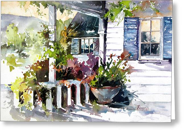 Veranda Shadows Greeting Card