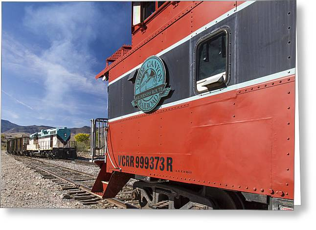 Verde Canyon Railway Caboose Greeting Card