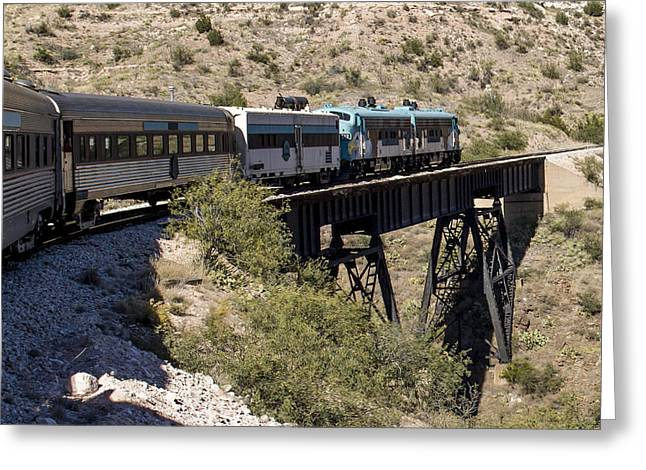 Verde Canyon Railway On Trestle Greeting Card