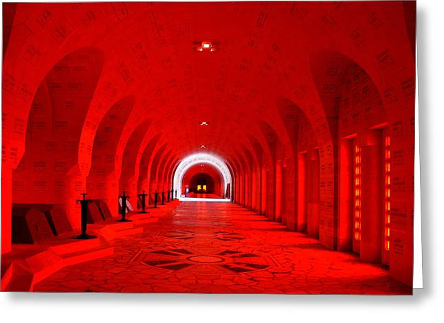 Verdun Ossuary Greeting Card by Joanna Madloch