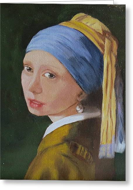 Vermeer Study Greeting Card