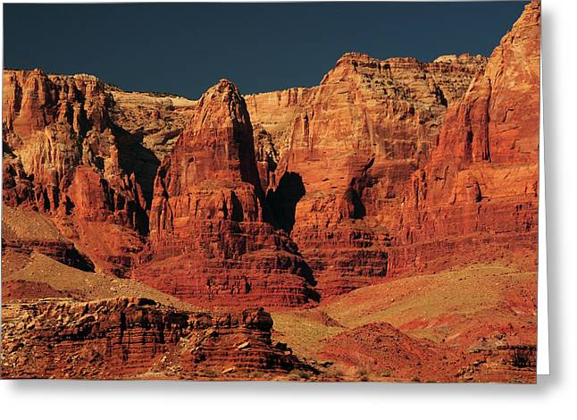 Vermilion Cliffs In The Morning, Lee's Greeting Card by Michel Hersen