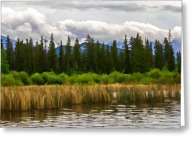 Vermilion Lakes Greeting Card by Jordan Blackstone