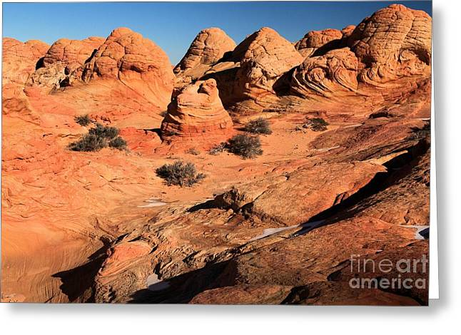 Vermilion Landscape Greeting Card by Adam Jewell