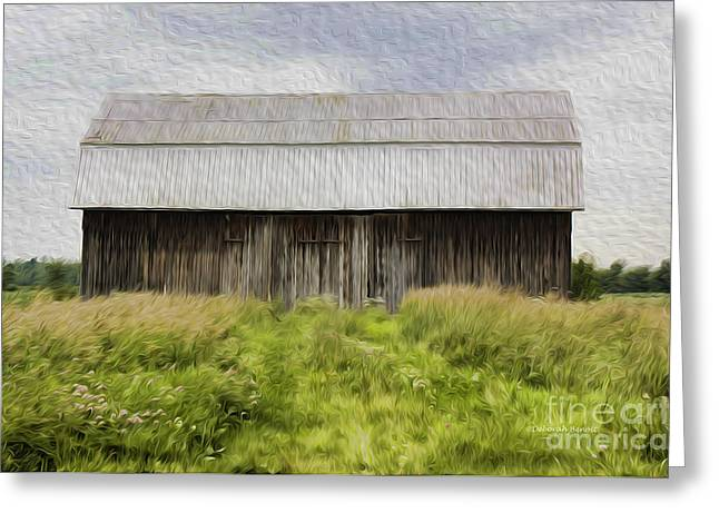 Vermont Barn In Oil Greeting Card