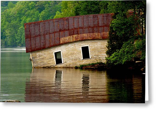 Greeting Card featuring the photograph Vermont Boathouse by John Haldane