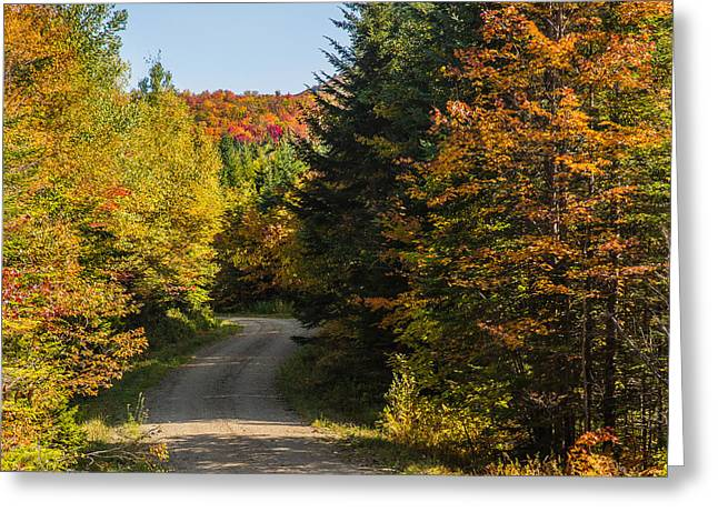 Vermont Country Road Greeting Card