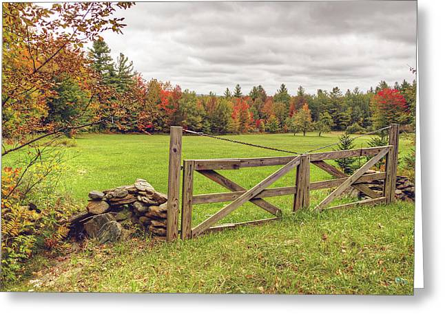 Vermont Countryside Greeting Card