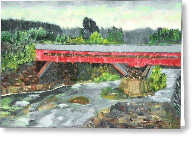 Vermont Covered Bridge Greeting Card by Michael Daniels