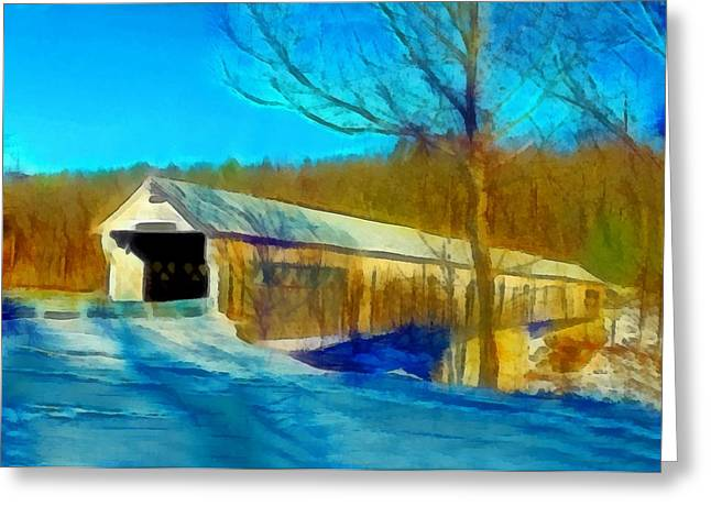Vermont Covered Bridge Greeting Card