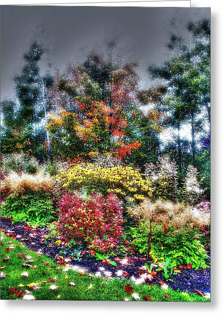 Vermont Fall Garden Greeting Card by John Nielsen