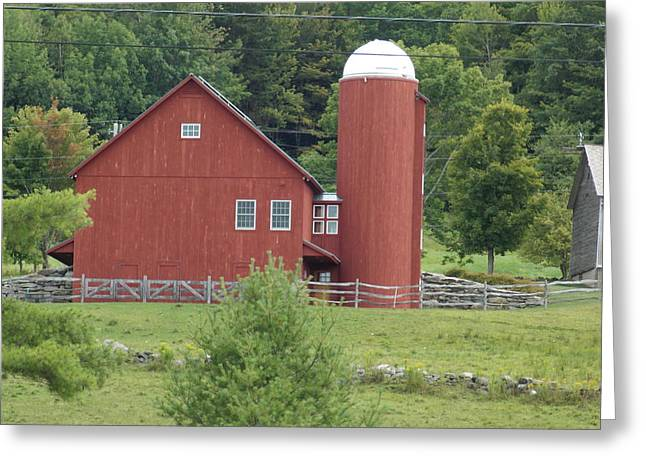 Vermont Farm Greeting Card by Catherine Gagne