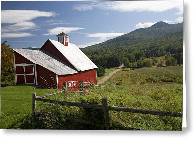 Vermont Farm Greeting Card by Jim  Wallace