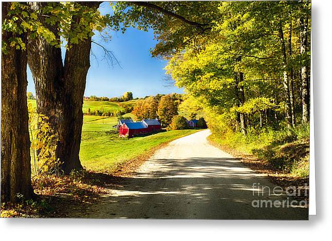 Vermont Farm Scenic I Greeting Card by George Oze
