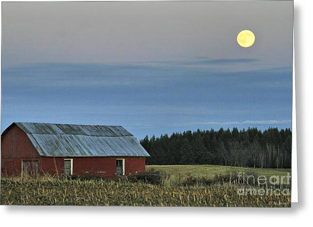 Vermont Full Moon Greeting Card