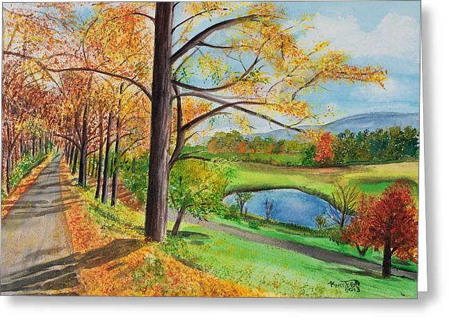 Vermont In The Fall Greeting Card