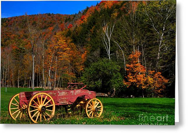 Vermont Wagon Greeting Card