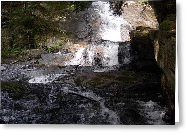 Vermont Waterfall Greeting Card by Catherine Gagne