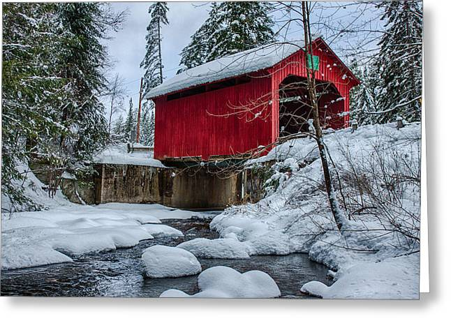 Vermonts Moseley Covered Bridge Greeting Card
