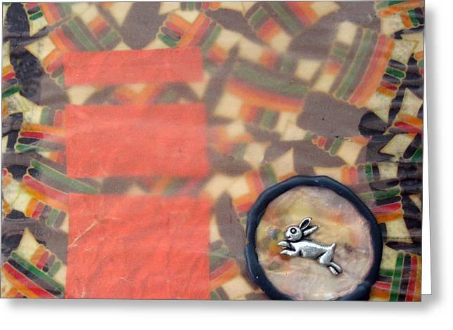 Vernal Equinox Hare Greeting Card by Ellen Miffitt