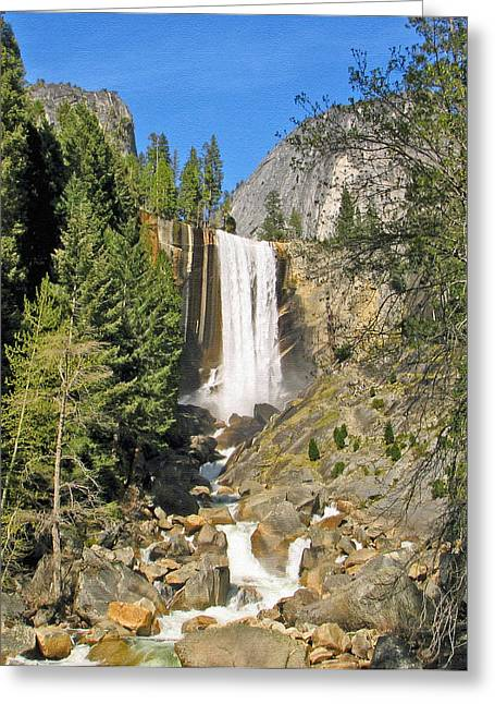 Vernal Fall On The Mist Trail Greeting Card