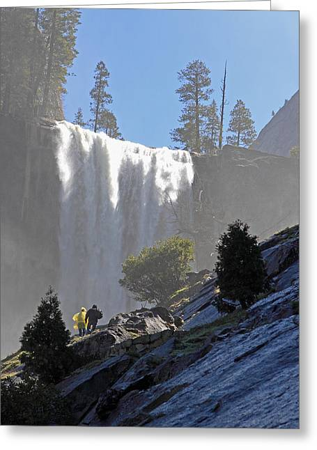 Vernal Falls Mist Trail Greeting Card by Duncan Selby