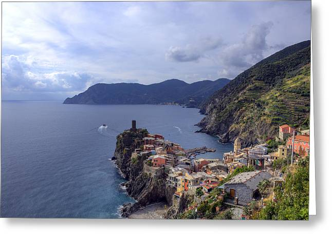 Vernazza By The Sea Greeting Card