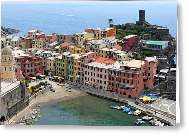 Vernazza Greeting Card by Corinne Rhode