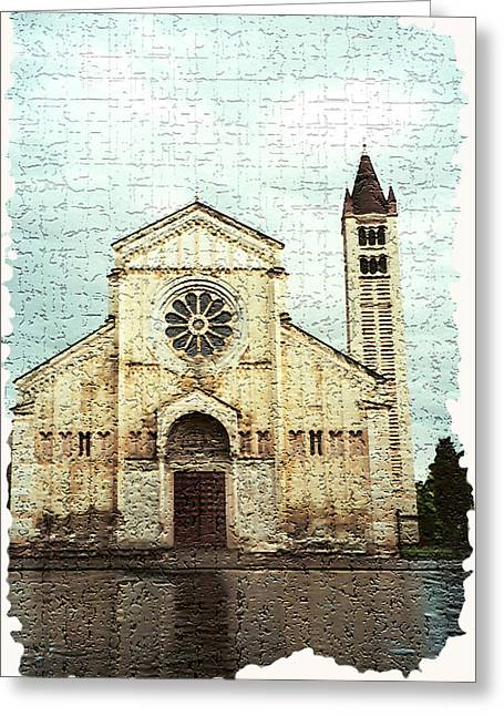 Verona 1 Greeting Card by Rebecca Cozart