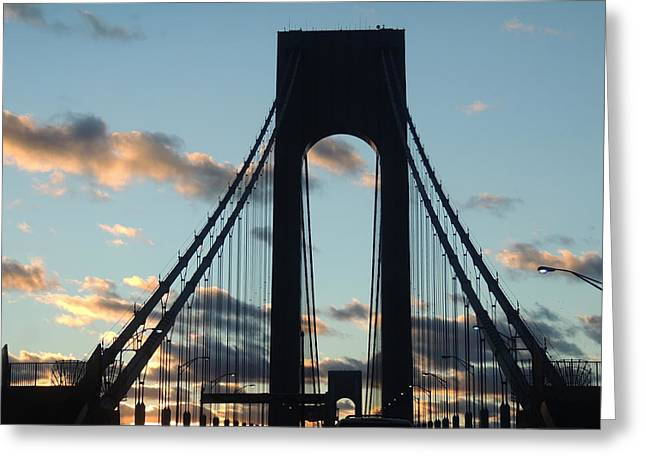 Verrazano Bridge Greeting Card by Anastasia Konn
