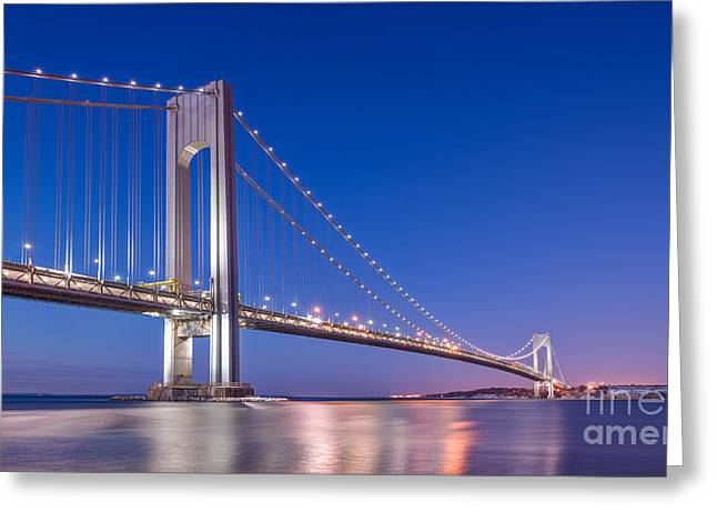 Verrazano Bridge Before Sunrise  Greeting Card