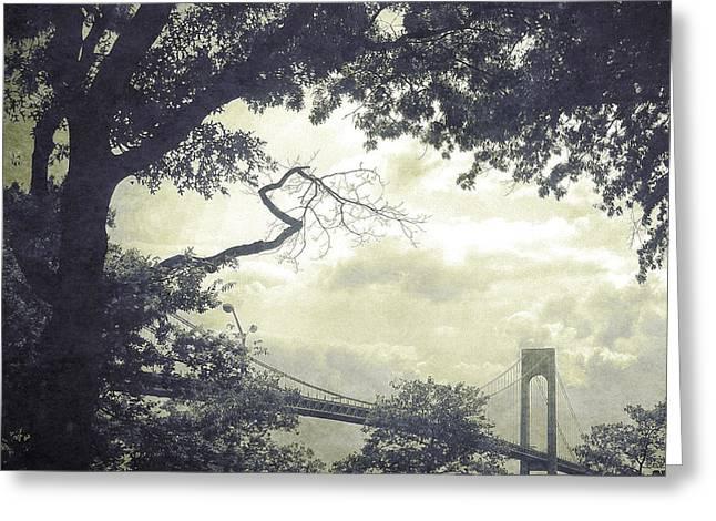 Verrazano Bridge From South Brooklyn Greeting Card