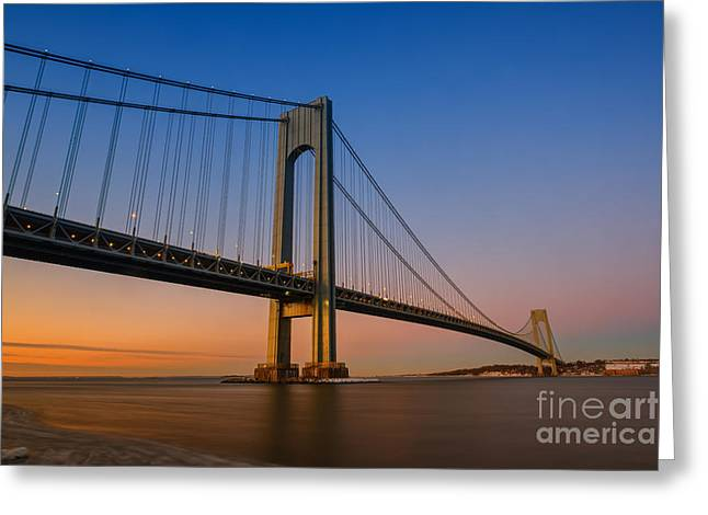 Verrazano Bridge Sunrise  Greeting Card