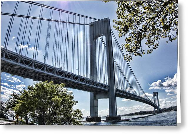 Verrazano Narrows Bridge Greeting Card by Terry Cork
