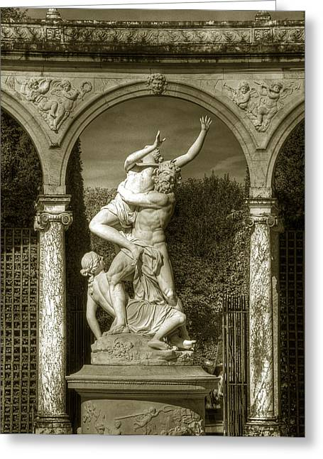 Versailles Colonnade And Sculpture Greeting Card