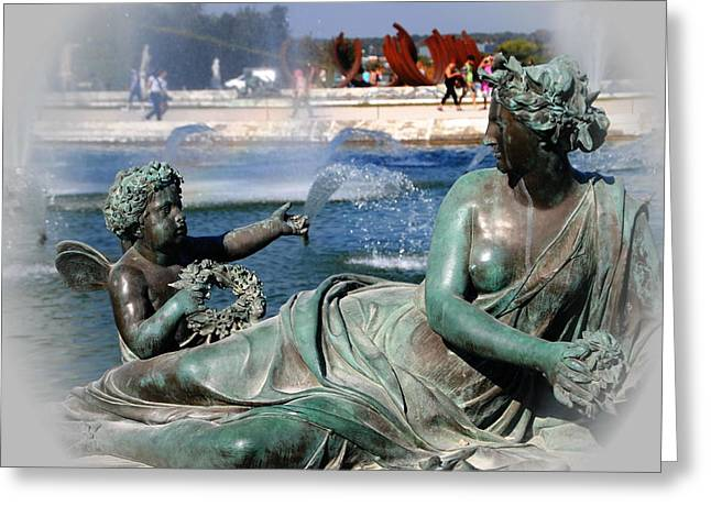 Versailles Fountain Greeting Card by Jacqueline M Lewis