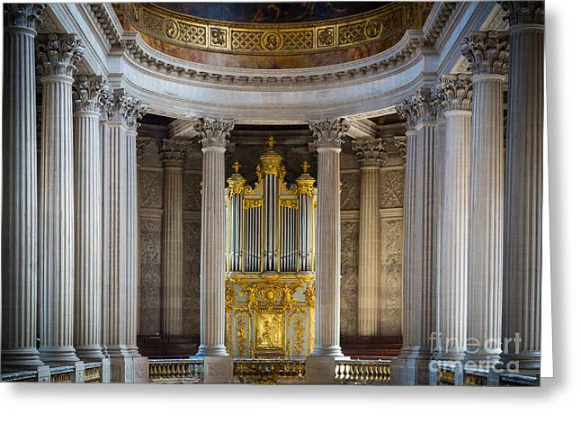 Versailles Organ Greeting Card by Inge Johnsson